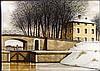 Jacques Deperthes Signed Art Print Winter Landscape