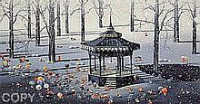 Winter Day by Yamagata Signed Serigraph-RARE