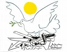 Pablo Picasso Dove of Peace- Sun Offset Art Print
