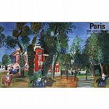 Raoul Dufy 1960 Paddock-Deauville Original Lithograph