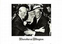 Chevalier et. Ellington 1969 Offset Art Print