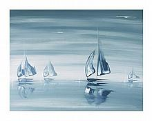 Kris Hardy Mineral Horizon Sailing Sailboat Art Print