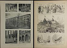 2 Prints Chicago Harpers Republican Conv1880, Newbury
