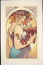 After Mucha Serigraph Art Print