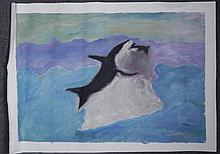 Maestro Tanjianji Original Painting on Canvas -Orca