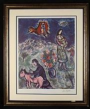 Marc Chagall Original Print Route de la Village