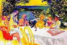Wine Alfresco Signed Leroy Neiman Limited Ed Art Print