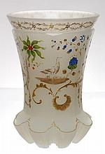Tumbler of white alabaster glass