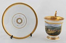 KPM Berlin - cup with a saucer