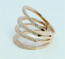 Diamond 0.47 ct Ring, 6.18 gram 14K Rose Gold