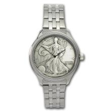 Men's Silver American Eagle Watch - Stainless Steel Bracelet