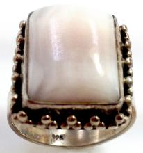 Sterling Silver .925 Lace Agate Ring