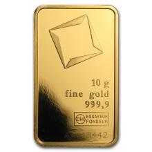 10 gram Gold Bar (Secondary Market) .999+ Fine