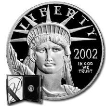 2002-W 1/10 oz Proof Platinum American Eagle (w/Box & COA)
