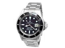 40mm Gents Rolex Stainless Steel Oyster Perpetual Submariner Watch. Black Dial. Stainless Steel Bezel, black insert. Stainless Steel Oyster Band. Style 1680.