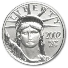 2002 1/10 oz Platinum American Eagle BU