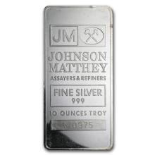 10 oz Silver Bar - Johnson Matthey (New/JM Logo Reverse)reverse#sthash.klgGMbRQ.dpuf