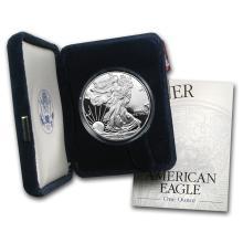 1 oz Proof Silver American Eagle (Random Year, w/Box & COA)