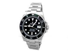 40mm Gents Rolex Stainless Steel Oyster Perpetual Submariner Watch. Black Dial. Ceramic Bezel. Stainless Steel Oyster Band. Style 116610.