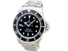 40mm Gents Rolex Stainless Steel Oyster Perpetual Sea Dweller Watch. Black Dial. Stainless Steel Bezel, black insert. Stainless Steel Oyster Band. Style 16600.