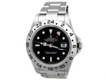 40mm Gents Rolex Stainless Steel Oyster Perpetual Explorer II Watch. Black Dial. Stainless Steel Oyster Band. Style 16570.