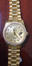 Rolex President Day date Champange Jubilee Diamond Dial Factory and Diamond Bizel out of factory DEVVS about 3.00ct