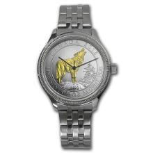 Men's 3/4 oz Aurotone Wolf Watch - Stainless Steel Bracelet