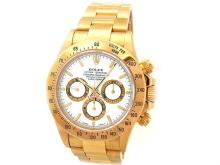 40mm Gents Rolex 18k Yellow Gold Oyster Perpetual Daytona Cosmograph Watch. White Dial. 18k Yellow Gold Bezel. 18k Yellow Gold Oyster Band. Style 16528.
