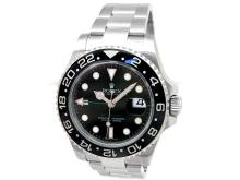 40mm Gents Rolex Stainless Steel Oyster Perpetual GMT-Master II Watch. Black Dial. Black Ceramic Bezel. Stainless Steel Oyster Band. Style 116710.