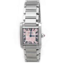 Lady Cartier Stainless Steel Tank Francaise Watch. Silver 'Double C