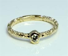 Diamond 0.09 ct Ring 14Kt Yellow Gold 1.58 gr