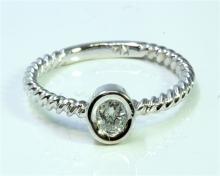 Diamond 0.13 ct Ring 14Kt White Gold 1.73 gr