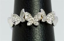 14K WHITE GOLD RING 2.90GRAM  DIAMOND 0.27CT
