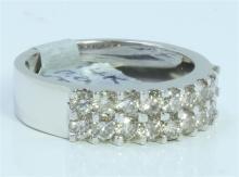 14K WHITE GOLD RING 6.34 GRAM  DIAMOND 1.22CT