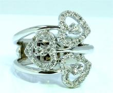 14K WHITE GOLD RING 6.20GRAM / DIAMOND 0.40CT GH COLOR Si CLARITY