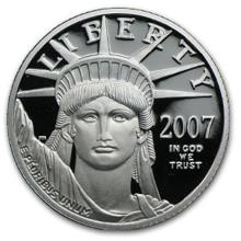 2007-W 1/4 oz Proof Platinum American Eagle (w/Box & COA)
