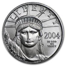 2004 1/10 oz Platinum American Eagle BU