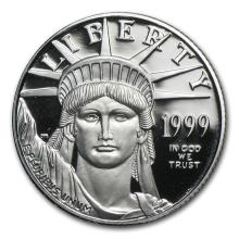 1999-W 1/4 oz Proof Platinum American Eagle (w/Box & COA)