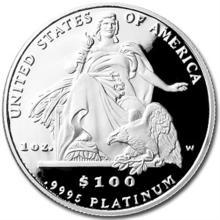 2004-W 4-Coin Proof Platinum American Eagle Set (w/Box & COA)