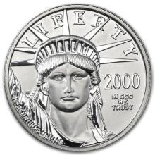 2000 1/4 oz Platinum American Eagle BU
