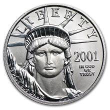 2001 1/4 oz Platinum American Eagle BU