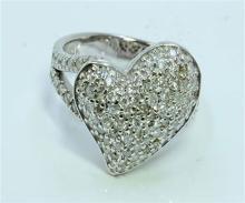 Diamond 1.09 ct Ring, 6.76 gram 14K White Gold