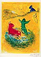 Marc Chagall Limited Ed Giclee Daphne & Chloe The Wolf Pit