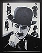 Hector Monroy-Original Oil Painting Hand Signed-Charlie Chaplain