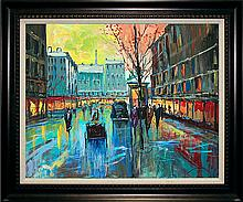 Original Oil on canvas Michael Schofield Paris