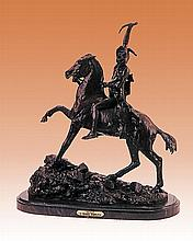 Frederic Remington-Bronze Sculpture-Scalp