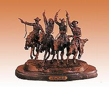 Remington Bronze Sculpture-Coming Thru the Rye