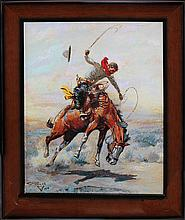 Charles Russell-Limited Edition Giclee-The Bucker