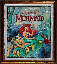 Original Oil on canvas The Little Mermaid by Lew