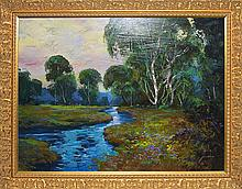 Michael Schofield-Original Oil Majestic Waterways